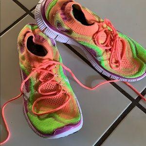 Nike free rainbow sneakers